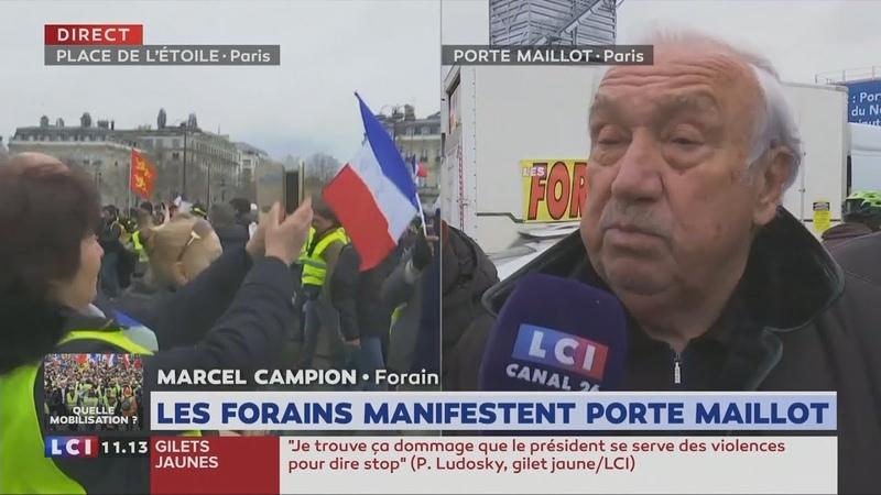 Marcel Campion (Roi des forains) : «Nous sommes frères des Gilets Jaunes» (LCI,02/03/19,11h13)