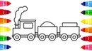 Train coloring pages | how to draw train coloring book for kids, children and toddlers