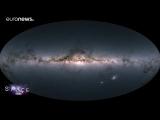 Gaia-Mission- Himmelskarte mit Milliarden Sternen