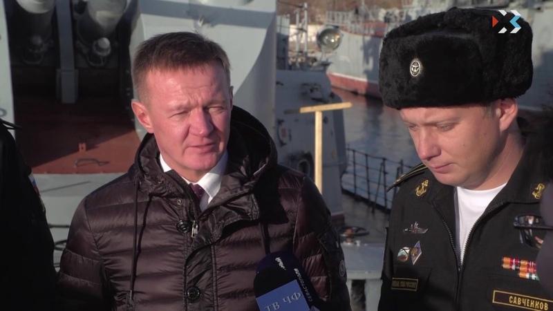 Курская область подписала соглашения о партнерстве с Черноморским флотом и СКР «Сметливый»