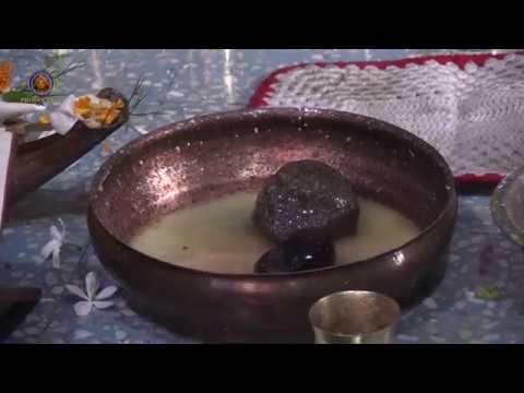 20180518 Abhisheka offering for Sri Advaita Acharya's Saligram Sila.at Santipur.