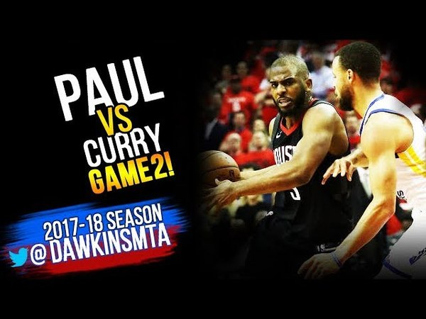 Stephen Curry vs Chris Paul PG Duel 2018 WCF GM2 - CP With 16 Pts, 6 Asts, Steph With 16, 7!