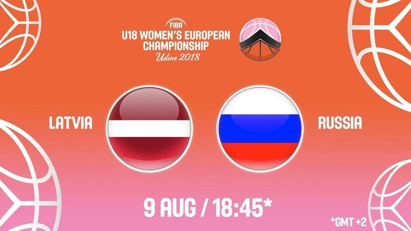 LIVE 🔴 - Latvia v Russia - Quarter-Finals - FIBA U18 Women's European Championship 2018