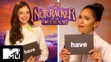 Disneys The Nutcracker And The Four Realms Cast Play Never Have I Ever Xmas Edition MTV Movies