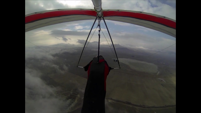 Полеты на дельтаплане на горе Клементьева