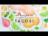 How to Watercolor x Tacos! Food Illustration