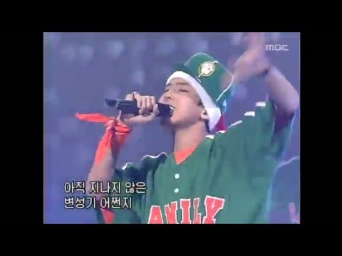 14 year old G-Dragon with YG Family Hip Hop Gentlemen (2002)
