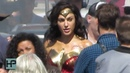 'Wonder Woman 1984' - Gal Gadot Back in THE COSTUME Filming Riot Scene