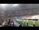 Болельщики пускают волну во время матча Испания-Португалия Роналду чемпионат мира по футболу Фифа
