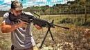 Пулемет M249 SAW пилит доску Разрушительное ранчо Перевод Zёбры