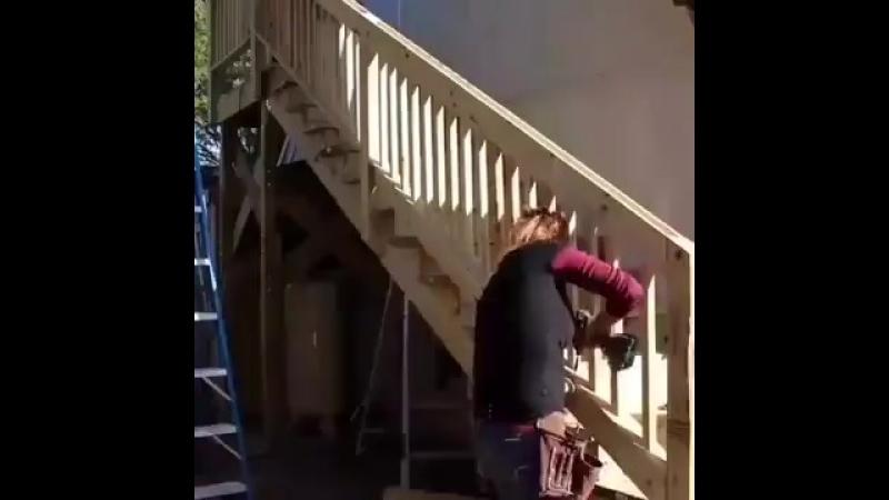 Новая лестница на второй этаж от мастерицы - vk.com/bg.remont