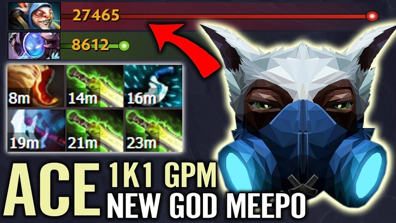 When You Realize There is no Build For Meepo - Ace Suggest This idea (3 Ghost Scepter LV 2)