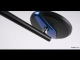KiWAV-Motorcycle Mirrors Missie Matte Stem SportsBike Chrome Blue