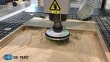 Шлифование картины после 3D фрезерования.