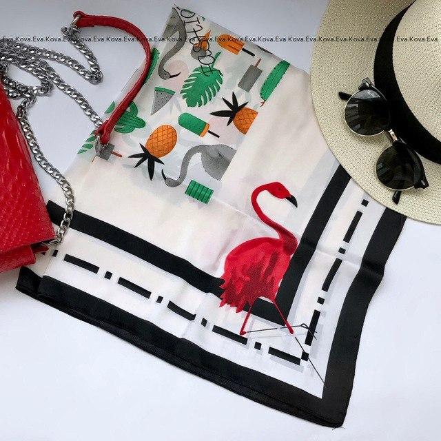Очень летний платочек из искусственного шелка