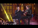 Marilyn Manson and Tyler Bates performing Sweet Dreams (Acoustic) live on italian TV show MUSIC ( 480 X 854 ).mp4