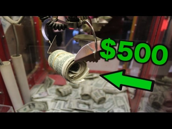 WINNING $500 FROM THE CLAW MACHINE BROKE THE GLASS JOYSTICK
