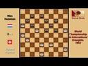 Roland Forclaz SUI Wim Huisman NLD Draughts World Championship 1952