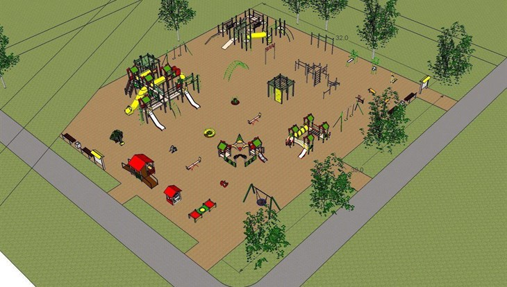 Игровой комплекс в Михайловской роще Томска должен появиться к октябрю