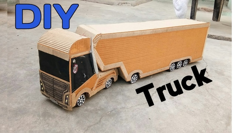 How To Make Powerful Cardboard Container Truck    DIY Container Truck at home