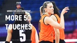 MORE 50 Touches - Volleyball LONG RALLY (Eczacibasi vs Altay) 59 secs | WCWC 2018