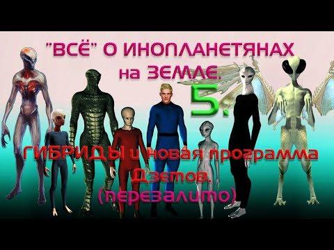 ВСЁ О ИНОПЛАНЕТЯНАХ на ЗЕМЛЕ.5. Гибриды и новая программа Дзетов.(перезалив).