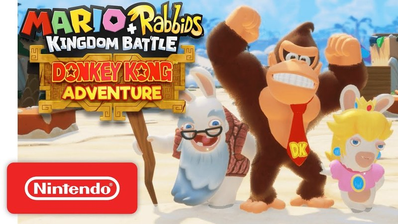 Mario Rabbids Kingdom Battle: Donkey Kong Adventure DLC Gameplay Trailer - Nintendo Switch