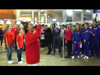 Театр-студия «Браво-ДГТУ» на проводах российских атлетов на юношеские Олимпийские игры в Буэнос-Айресе