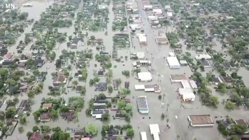 Heavy storm brings flooding to Texas, Weslaco - June 20, 2018
