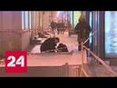 Три человека пострадали при падении рекламного щита в Санкт-Петербурге - Россия 24