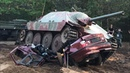 Jagdpanzer 38(t) Hetzer Tank vs. Opel Car Tatra 813 Kraz 214