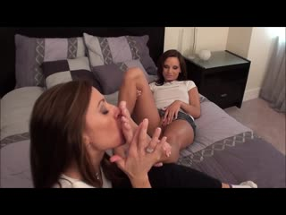 Mother & daughter lesbian foot worship [hd porn, foot fetish sex, feet, incest, toes, soles]