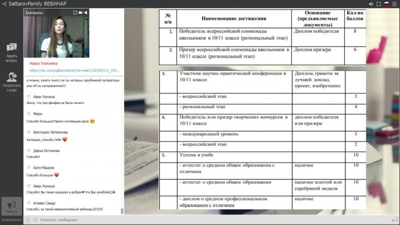 Мастер-класс с Екатериной Горевой, студенткой лучшего лингвистического ВУЗа РФ - МГЛУ.