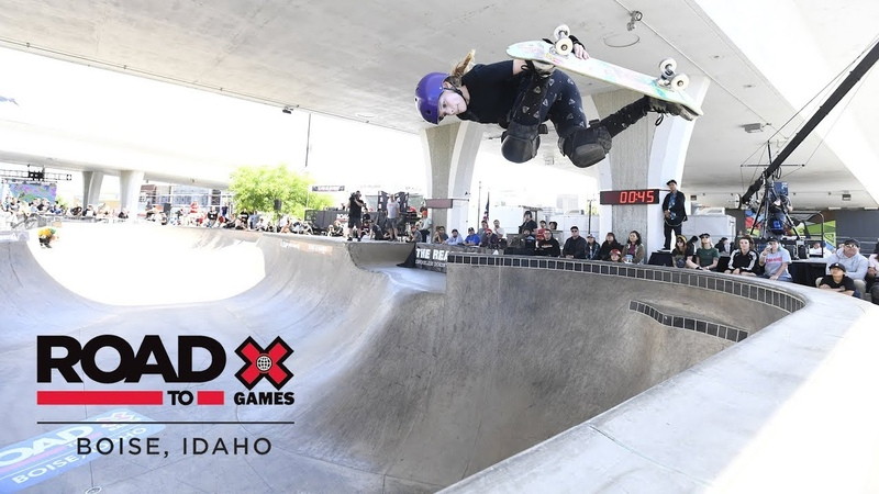 Sabre Norris wins Women's Skate Park | Road To X Games Boise 2018