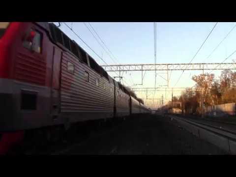 Электровоз ЧС7-282 с поездом №067Ы, Абакан — Москва