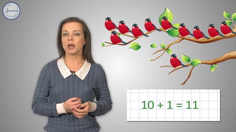 Математика 1 Название и запись чисел до 20