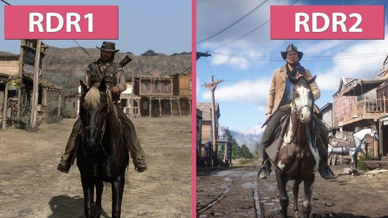 Red Dead Redemption 1 (2010) vs. Red Dead Redemption 2 (2018) Trailer Graphics Comparison