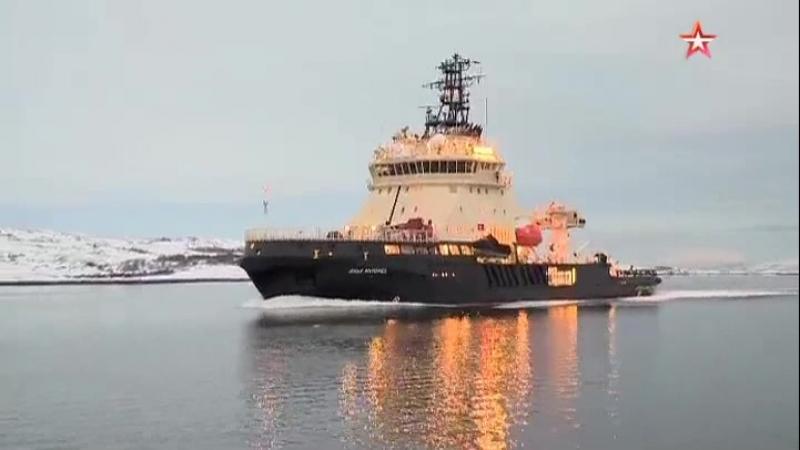 «Илья Муромец» против льда новейший ледокол приступил к испытаниям в Баренцевом море