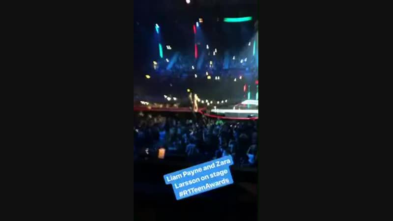 INFO Liam et Zara Larsson présentant la catégorie du meilleur groupe Britannique qui a été gagné par les Little Mix aux R1T