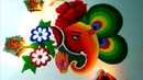 Ganpati special rangoli design beautiful and attractive rangoli