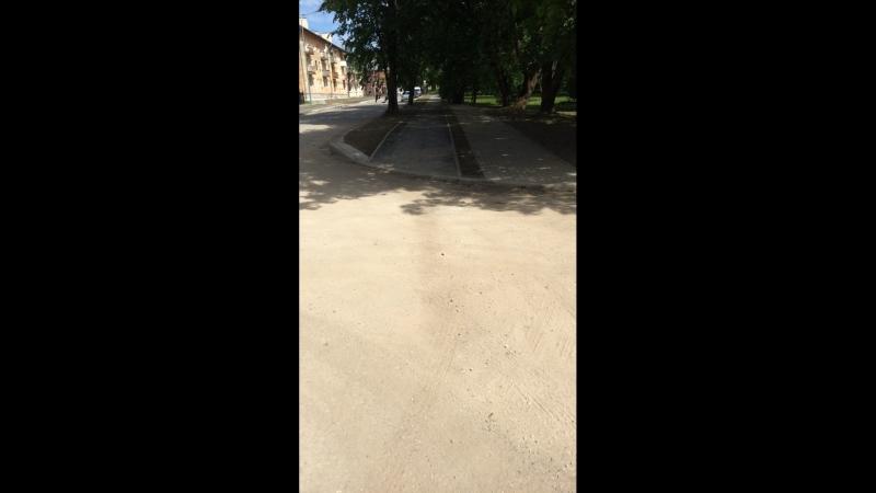 Первый участок улицы Свердлова после реконструкции