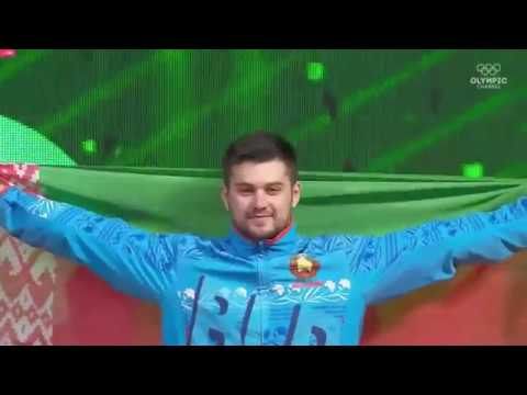 Евгений Тихонцов (BLR) - Men 96kg, IWF World Championships, Ashgabat 2018