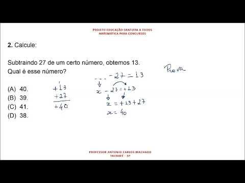 Cálculo Valor Desconhecido Questão 2 Matemática