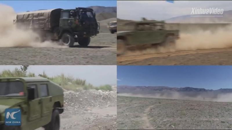Маневры военной техники НОАК в провинции Сычуань
