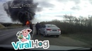 Semi Truck Bursts into Flames After Collision || ViralHog