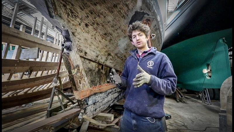Laminating timbers into an old yacht Cornish Projects - Rebuilding Tally Ho EP16