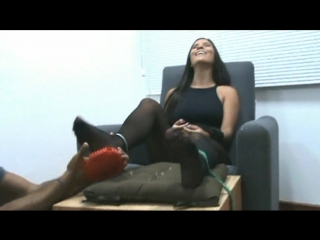 Jenifer in foot tickling torture surprise