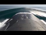 Учебно-боевой пуск крылатой ракеты с борта АПРК Томск в Охотском море.