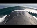 Учебно-боевой пуск крылатой ракеты с борта АПРК «Томск» в Охотском море.