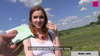 PublicAgent - Beautiful red haired girl needs money